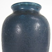 Navy Blue Rookwood Vase