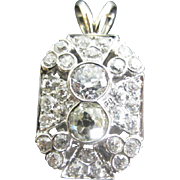 SOLD Stunning Platinum and Diamond Necklace Pendant