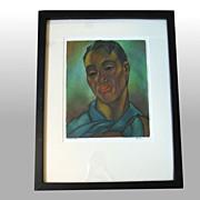 """John M. Kelly """"Mahiai.Hawaii"""" Signed, framed Original Mixed Media"""
