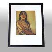 "John M. Kelly ""Untitled"" framed, signed aquatint (partial nude)"