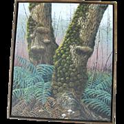 Exceptional Signed Original Oil Painting Jack BRAMAN Oregon Woods Landscape 1977