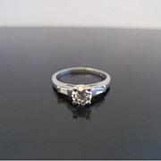 SALE Old European Cut 0.69ct Diamond Engagement Ring in Platinum