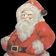 Standing Santa Claus Nostalgic Christmas die-cut ~ Mid Century Nice