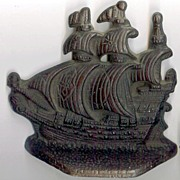 SALE Cast iron Spanish Galleons Bookends/Door stops