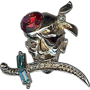 REDUCED Terrific Scallywag Pirate vintage pin/brooch Coro Company