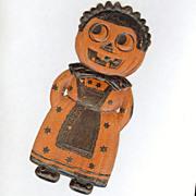 SALE Small Jack O' Lantern Maid die cut Halloween decoration Nice! – German 1920s