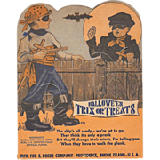 SOLD Halloween Trix or Treat Lollipop card decoration depicting Pirates – Rosen Company 1930