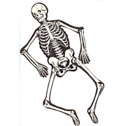 SALE Vintage Joined Skeleton Halloween Decoration Beistle Company 1940's