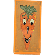 SALE Full Boxed set of 6 Creature Carrot cut outs Halloween Decoration Dennison Company 1928