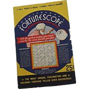 SALE A Halloween party Fortune telling Wheel game - Fortunescope by S.S. Bloom Company 1935