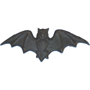 REDUCED Small size Flying Bat cardboard die cut Halloween decoration Germany 1920s