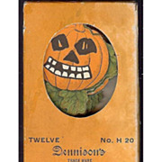 SOLD Dennison Halloween decorative Cut outs for ices, cakes puddings Scary Jack O' Lantern Pum