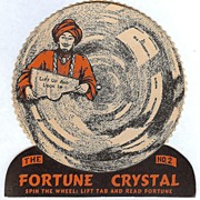 """REDUCED BEISTLE U.S.A. 1948 Vintage Halloween Decoration Fortune Crystal Game #2"""" Nice"""