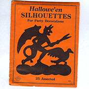 "REDUCED Original Package ""HALLOWEEN SILHOUETTES"" Beistle Company Diamond Mark 1925"
