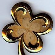 Vintage Silson Shamrock Pin Brooch Four Leaf Clover