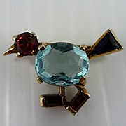 REDUCED Trifari 'Alfred Philippe' Miniature Walking Bird Pin – 1940's
