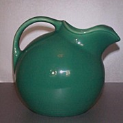 Homer Laughlin Harlequin Service Water Pitcher in Spruce Green