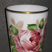 Consolidated Con Cora Flared Vase with Rose decoration