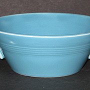 SOLD Homer Laughlin Company Harlequin Cream Soup Bowl – Turquoise