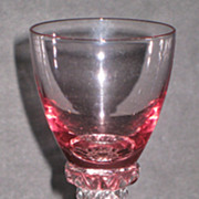 Tiffin Wisteria and Crystal #17501 Wine glasses
