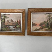 Pair of Small Landscape Oil Paintings