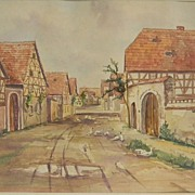 Groppe . Watercolor  '45