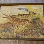 MPA . signed . Birds Oil Painting