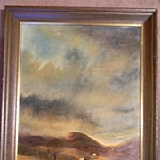 """Ed Wolff .  28"""" x 22"""" Framed Landscape Oil Painting"""