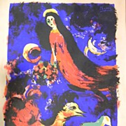 "Chagall .  35"" x 23""  Abstract Image"