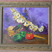 "Betty Hayes . 16"" x 20"" Still Life Oil Painting"