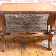 Antique Oak Stool / Bench