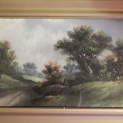Henry Morse Ward . Large Pastel . Landscape . Artist Initialed