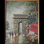 Signed . Oil Painting . Impressionism . Paris Scene