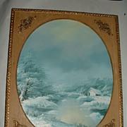 G Rumsky . Oil on Canvas Winter Scene