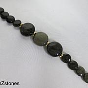 Elegant Golden sheen Obsidian Single Strand Bracelet