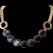 SALE Beautiful Grade A Labradorite Single Single Strand Necklace