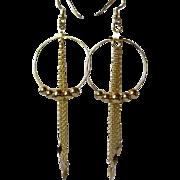 Pretty Gold Hoop And Chain Earrings