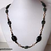 Elegant Gemstone Grade A Nephrite Jade Necklace