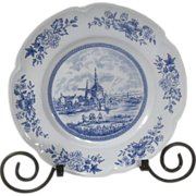 Johnson Brothers Blue Tulip Time Dinner Plate England