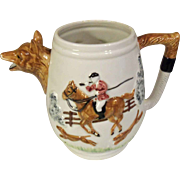 SOLD Sigma Hunting Riding  Scene Equestrian Fox Hound Pitcher