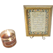 Florentine Florentia Gold Gilt Hand Painted Framed Serenity Prayer ITALY Numbered