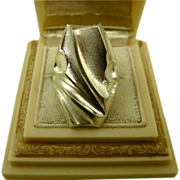 Lapponia Finland Bjorn Weckstrom Silver Vintage Ring ~ Massive