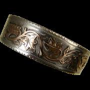 Superb Antique French Napoleon 111 Silver Rose Gold Bracelet ~ c1890