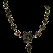 Antique Victorian Superb Bohemian Garnet Necklace ~ c1870