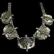 Rare Theodor Fahrner Art Moderne Necklace ~ Sterling Silver  ~ 1960s