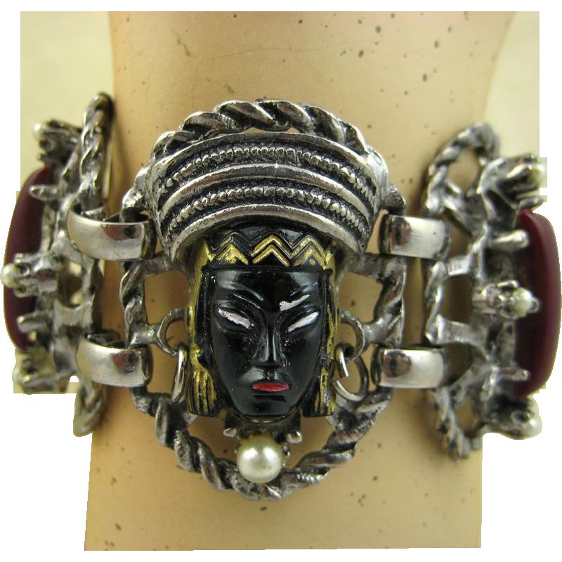 1950's Selro Blackamoor Bracelet - Rare Super Condition
