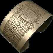 REDUCED Fine Vintage French Silver Cuff Bracelet ~ c1930