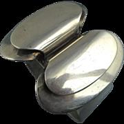 SOLD Rare Vintage Modernist Niels Eric From Denmark Silver Cuff Bracelet ~ 1960s ~ Stunning