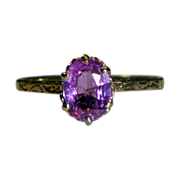 REDUCED Vintage Pink Sapphire 10 K Gold  Ring
