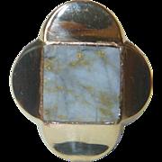 REDUCED Antique California Gold-in-Quartz 18K  Ring